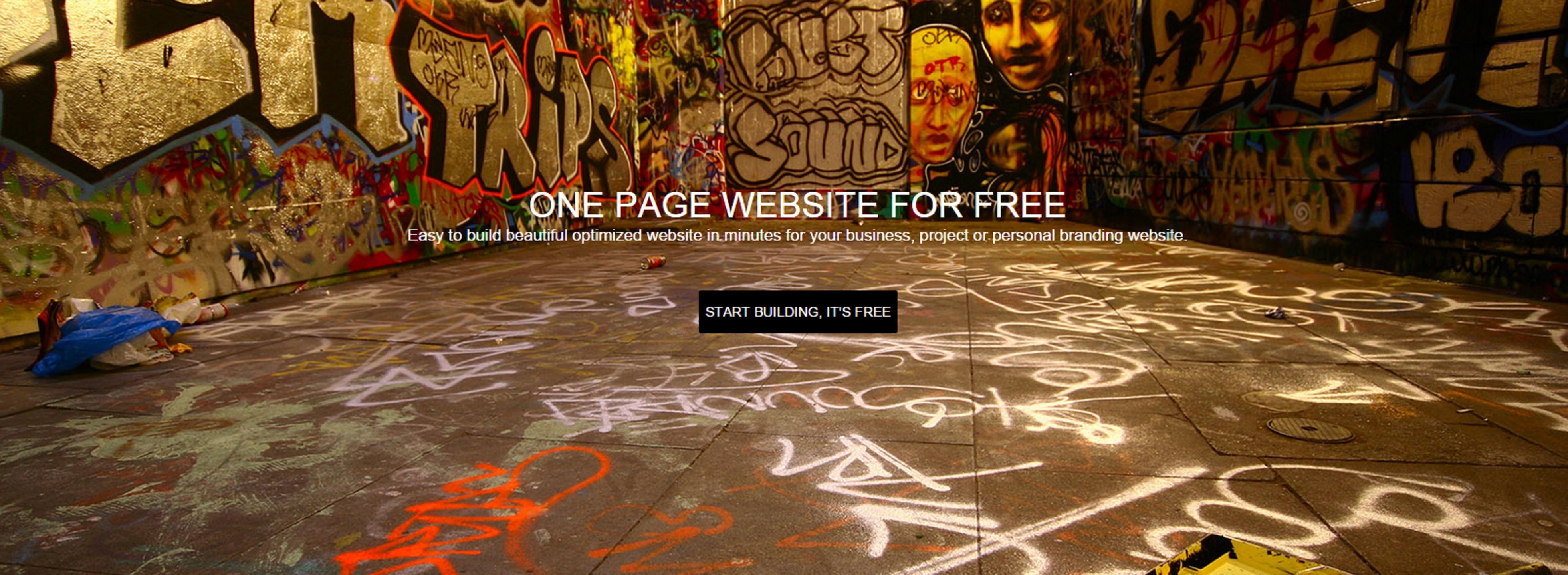 One Page Website zelf maken
